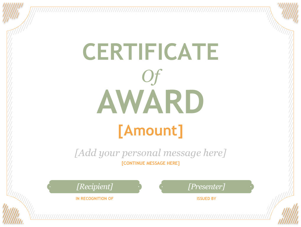 Sample Merit Award Certificate Template