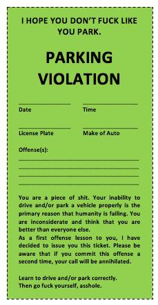 Parking Ticket Template