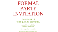 Sample Party Invitation Template